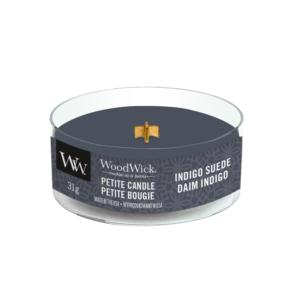 Woodwick Indigo Suede petit candle