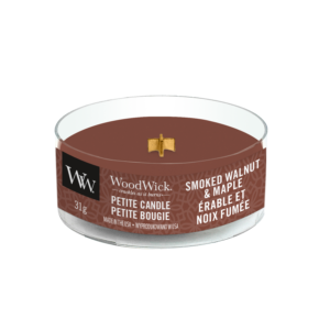 Woodwick Smoked Walnut & Maple petit candle