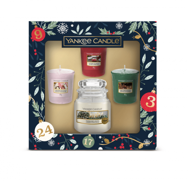 YC Countdown To Christmas 1 Small Jar & 3 Votive Gift Set