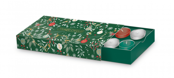 YC Countdown To Christmas 10 Tealight & 1 Holder Gift Set